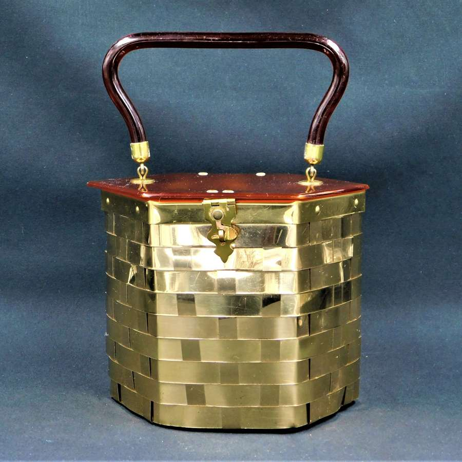 Dorset Rex Fifth Avenue Hexagonal Metal Weave and Lucite Bag