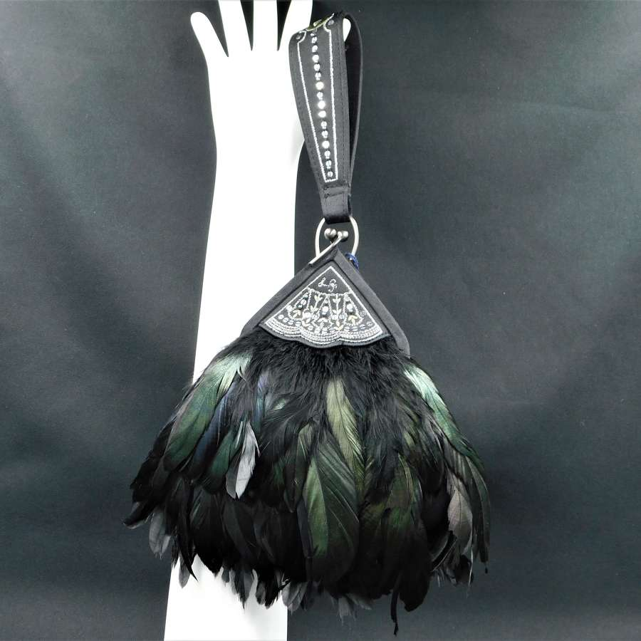 Lulu Guinness Feather Fan Evening Bag