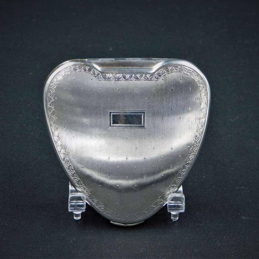 Kigu Silver 'Cherie' Powder Compact 1951