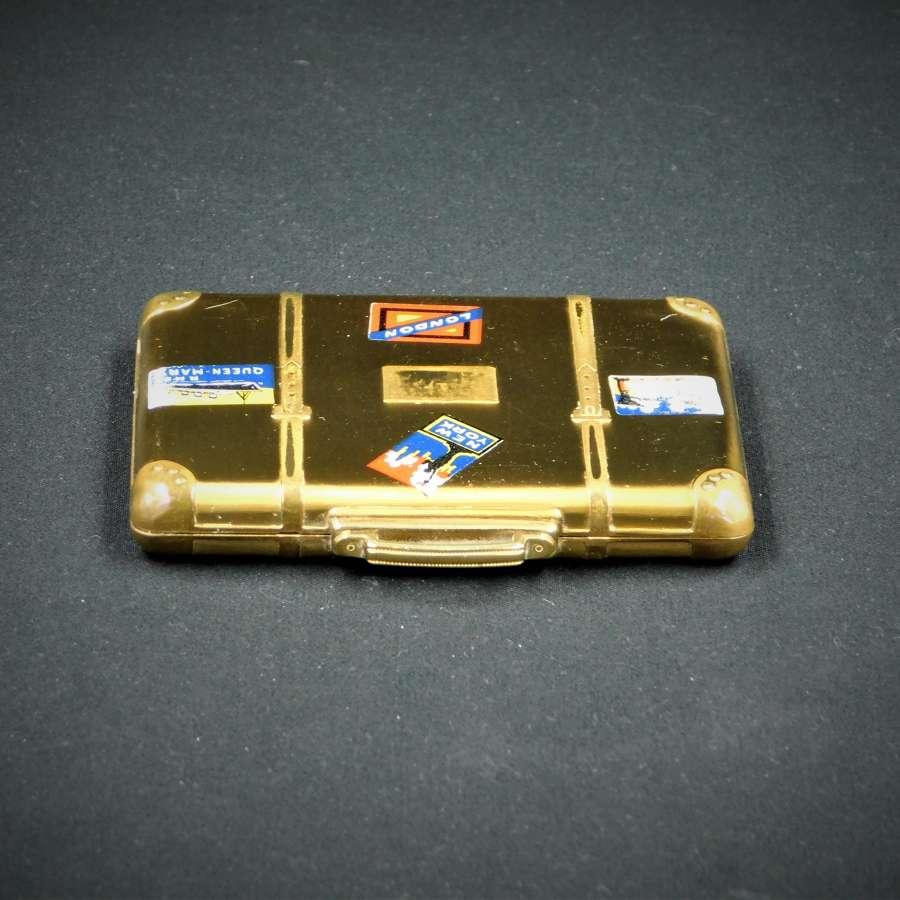 Princess Suitcase Powder Compact