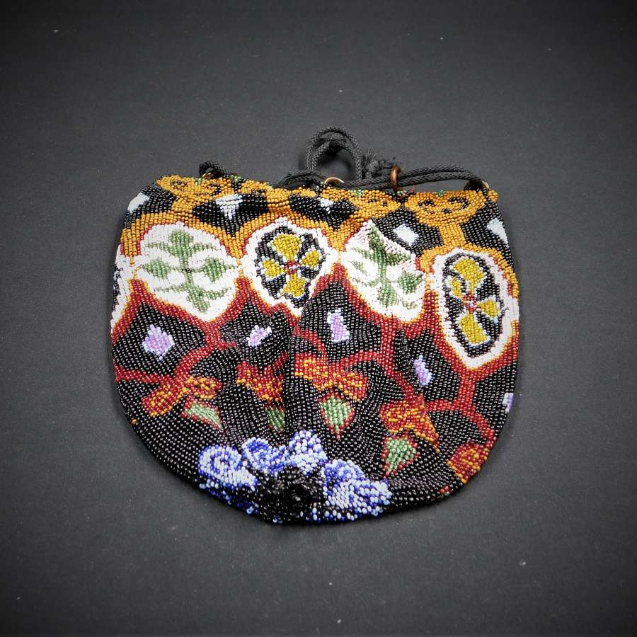 Art Deco Glass Beaded Bag