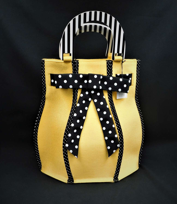 Lulu Guinness Yellow Hexagon Bow Bag