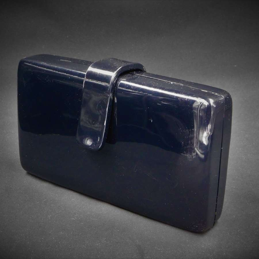 Black Lucite Clutch/Shoulder Bag