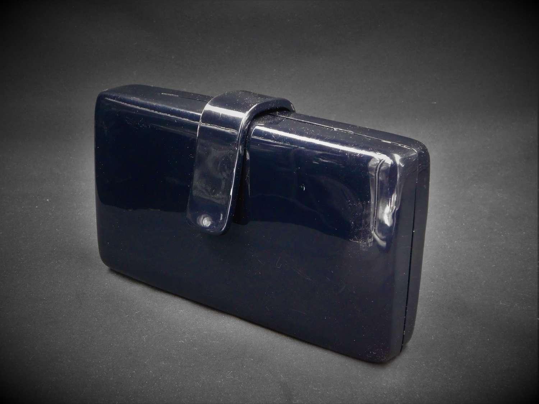 Black Lucite Clutch/Shoulder Bag