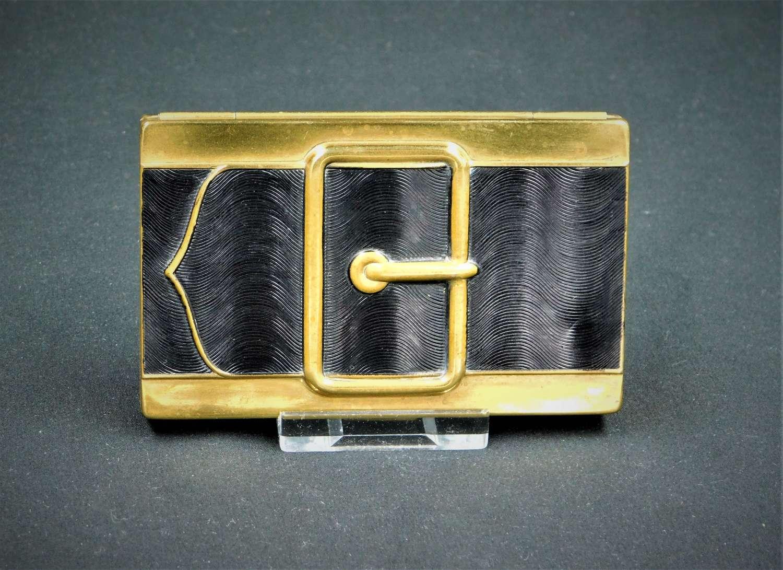 Coty, New York 'Buckle' Double Vanity Compact
