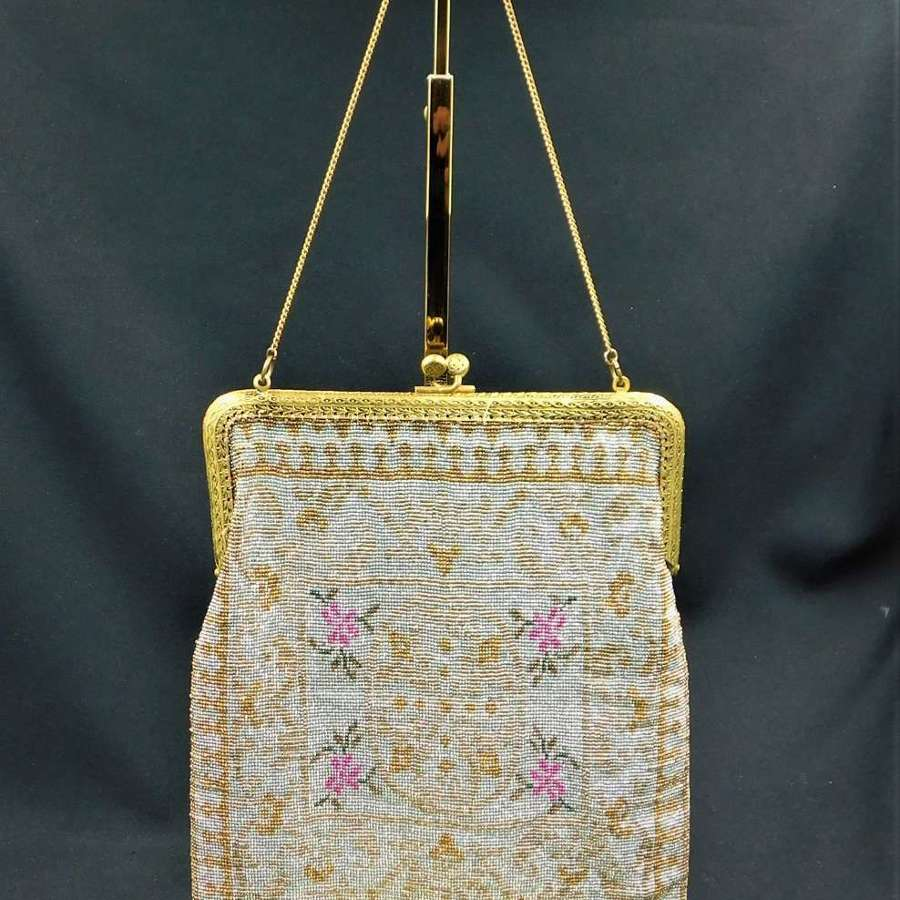 Art Deco French Micro Beaded Bag