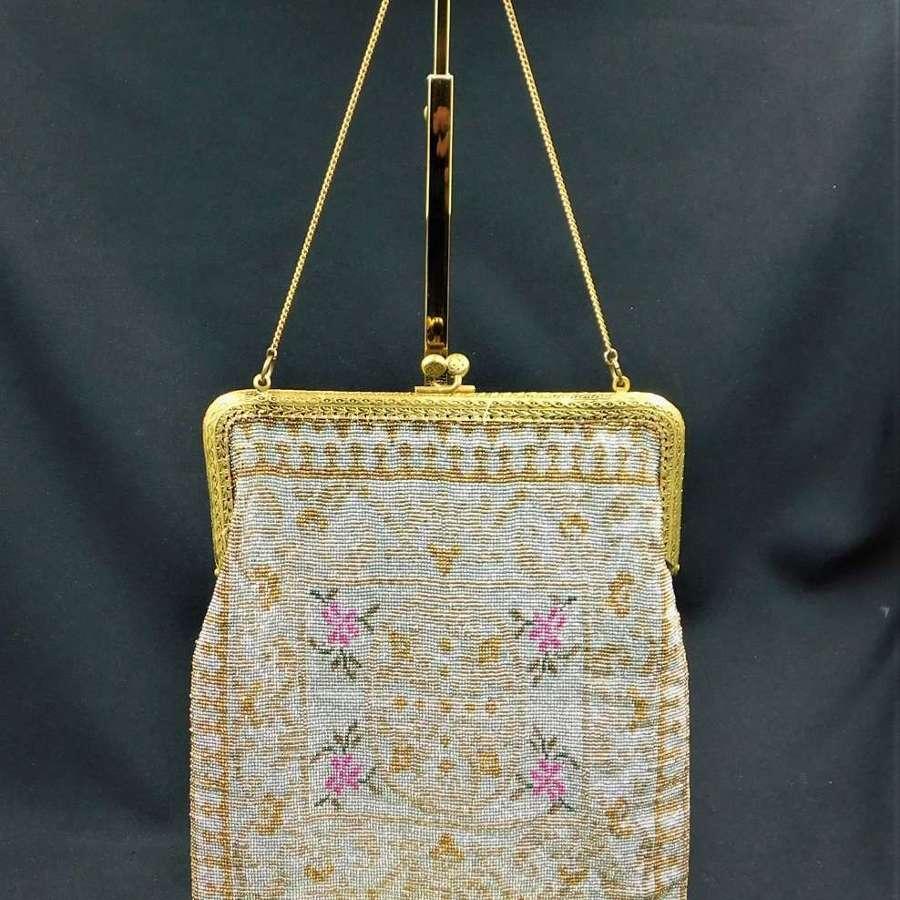 Art Deco French Micro Beaded Bag