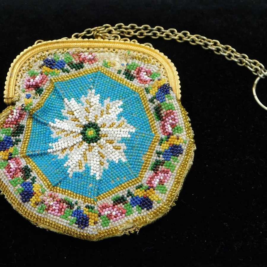 Georgian Beadwork Purse
